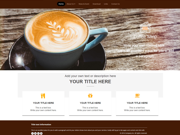 Perfect templates for any kind of website